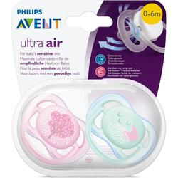 Philips Avent SCF343 / 20 Ultra Air Pacifier 0 - 6 Month Girl - 2 Pieces