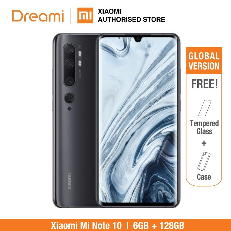 Global Version Xiaomi Mi Note 10 128GB ROM 6GB RAM (Brand New And Official Rom), Note10128 Smartphone Mobile