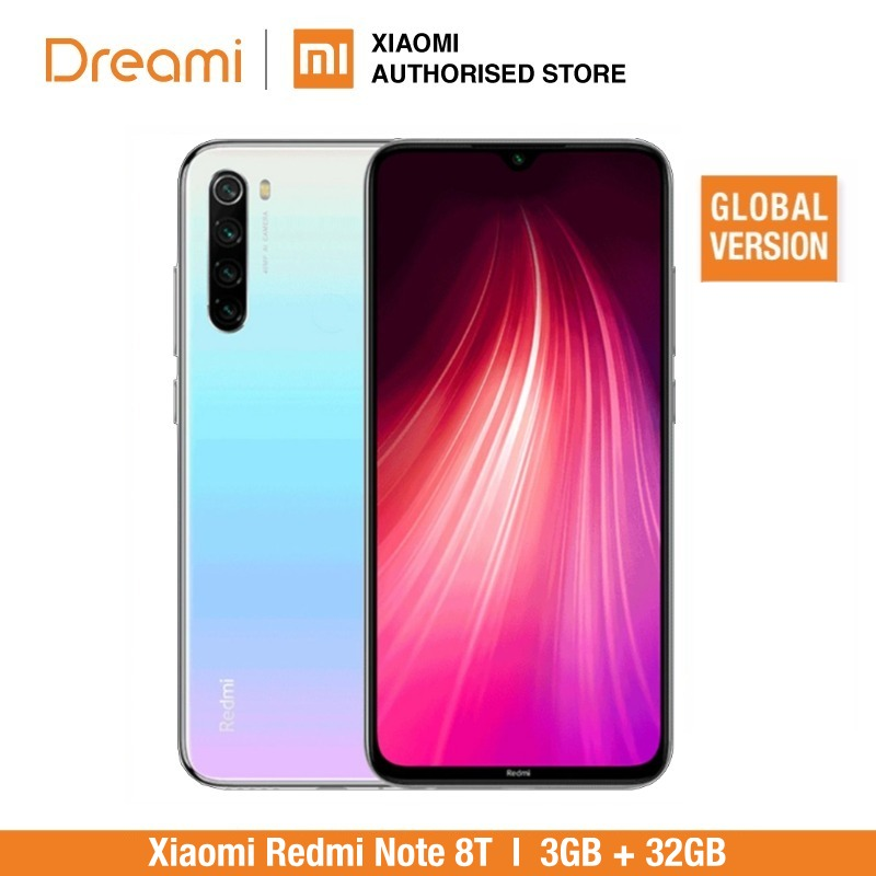 Global Version Xiaomi Redmi Note 8T 32GB ROM 3GB RAM (Official Rom), Note 8 T, Note8t, Note8