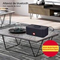 Altavoz portátil inalámbrico,Altavoces de Bluetooth, estéreo, Subwoofer, soporte para teléfono, TF, FM, AUX,envio desde españa