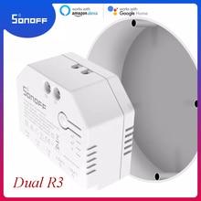 1/10Pcs Sonoff 듀얼 R3 릴레이 양방향 Wifi 스위치 인터럽터 전원 계량 스마트 홈 지원 eWelink Alexa Google 홈