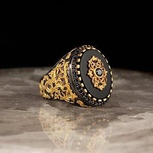 Мужское кольцо из стерлингового серебра 925 пробы с кристаллами, свадебные мужские кольца, мужские ювелирные кольца для мужчин, кольца для му...