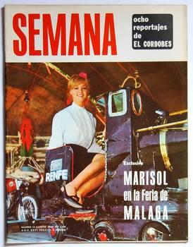 Week magazine N ° 1330. 14 August 1965. Marisol at the Fair of Malaga. The Cordovan