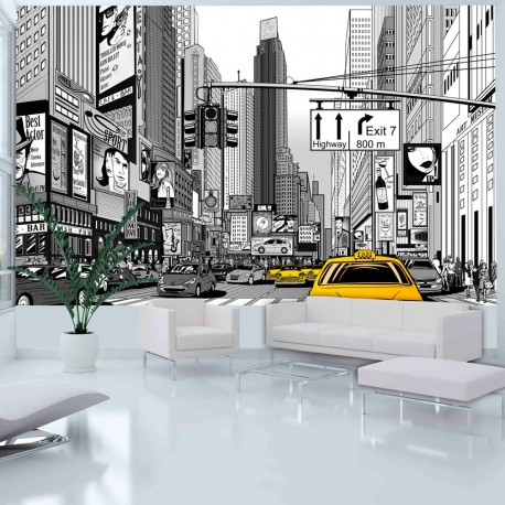 Photo Wallpaper-yellow Cabs In New York