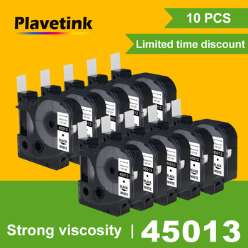 Plavetink 10 pcs Compatible for dymo D1 12mm tapes 45010 45013 40913 43613 43610 ribbon cassette Dymo label manager LM 160
