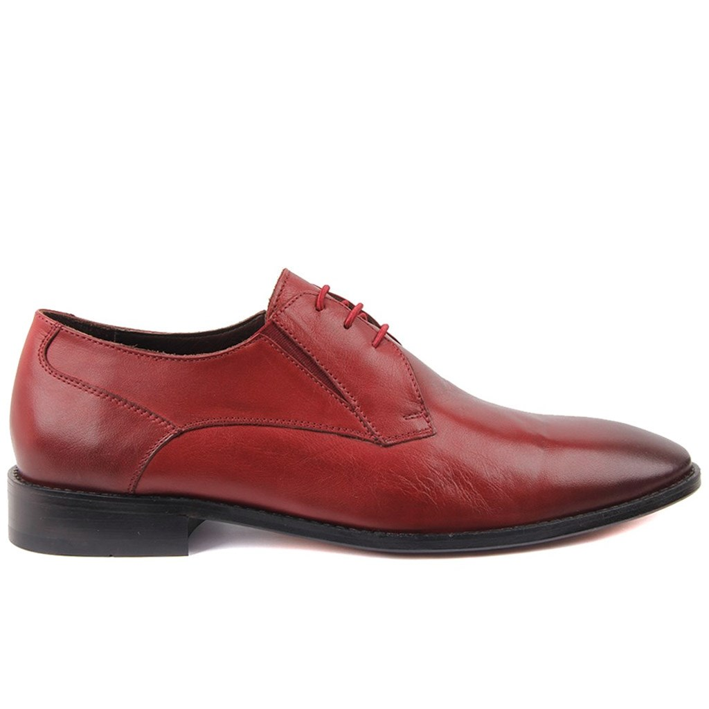 Sail-Lakers Burgundy Men 'S Sole Leather Classic Shoes