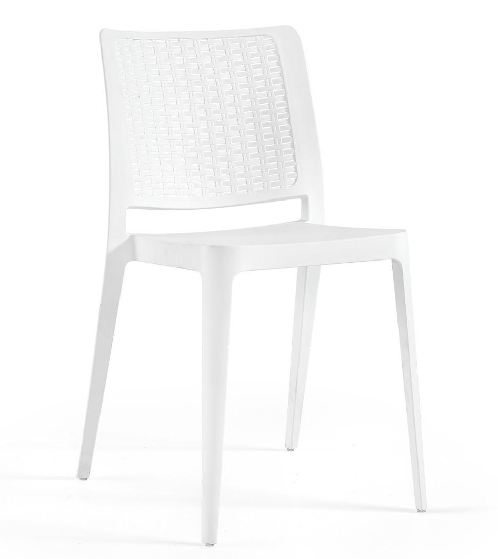 Chair JOHN, Stackable, Polypropylene White *
