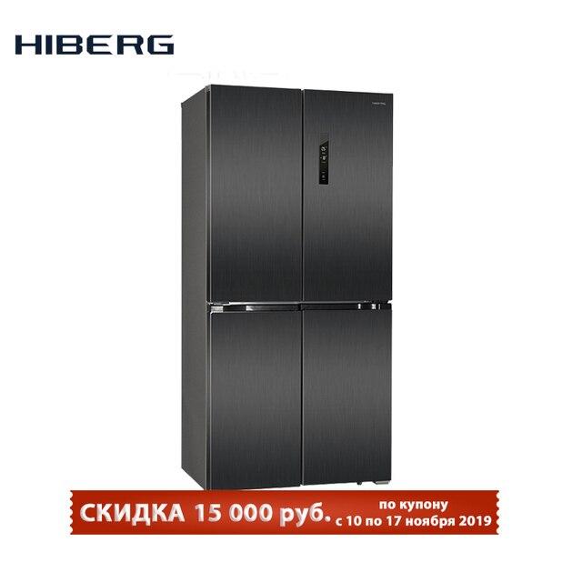 4-х дверный холодильник HIBERG RFQ-490DX NFXd, объем 490л