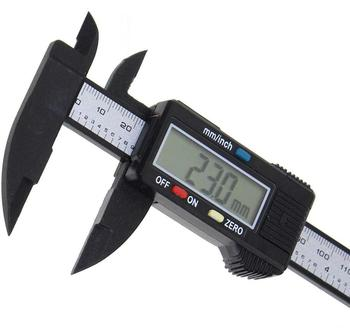 цена на HKFZ 150mm 6 Inch LCD Digital Electronic Carbon Fiber Vernier Caliper Gauge Micrometer Measuring Tool Digital Tools Calipers