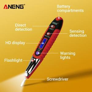ANENG AC DC 12-250 В ЖК-цифровой вольтметр Многофункциональный тестер напряжения карандаш Электрический вольтметр тестер er детектор отвертка