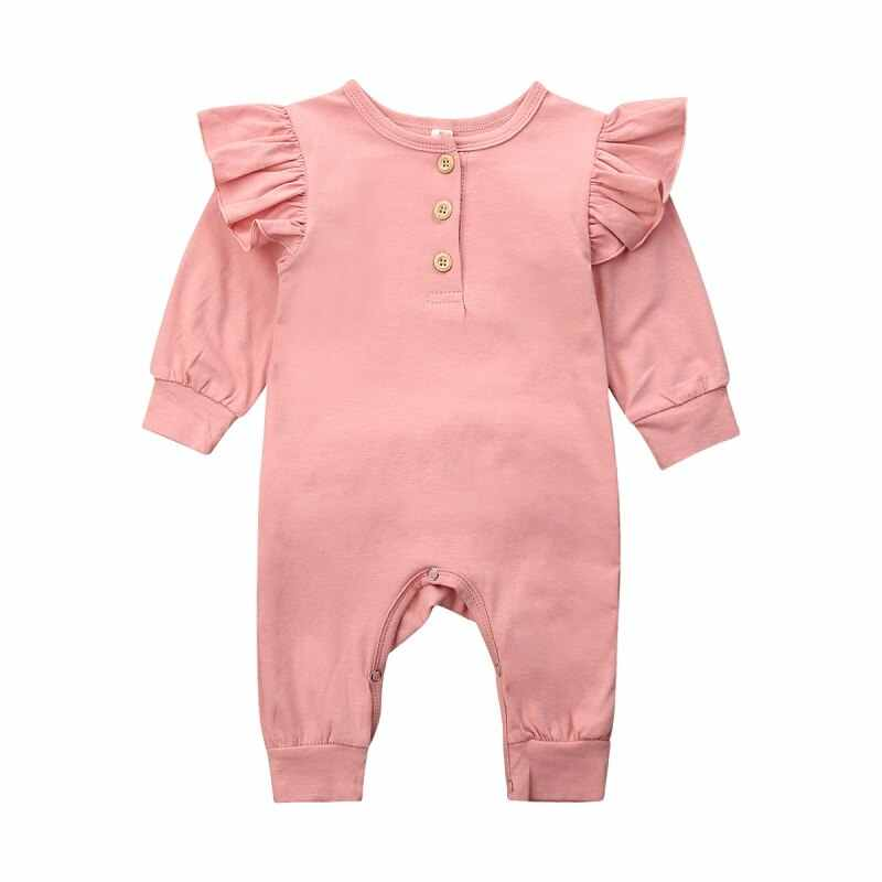 2020 Baby Romper Infant Clothing  Baby Girl Flower Print Long-Sleeved Romper Jumpsuit Outfits Clothes 0-18M
