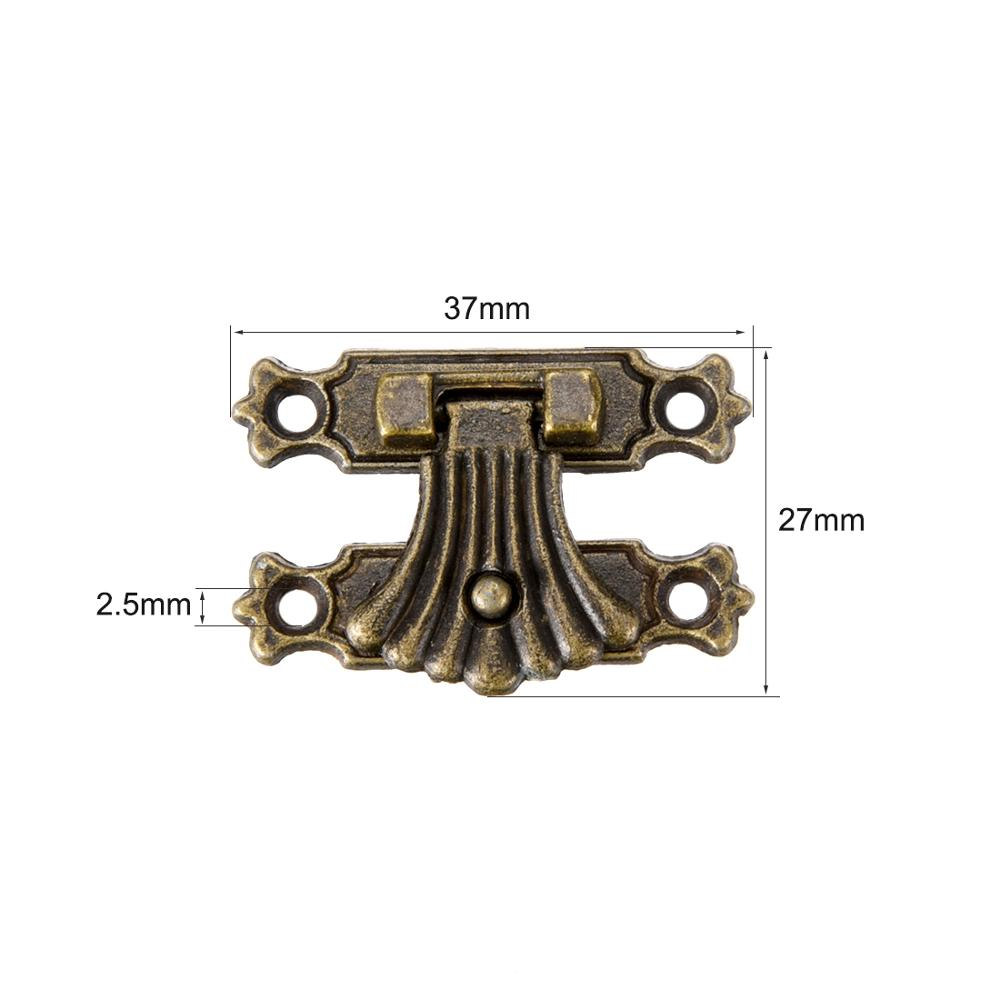 uxcell Toggle Catch Lock 38mm Retro Decorative Silver Tone Hasp w Screws for Suitcase Chest Trunk Latch Clasp