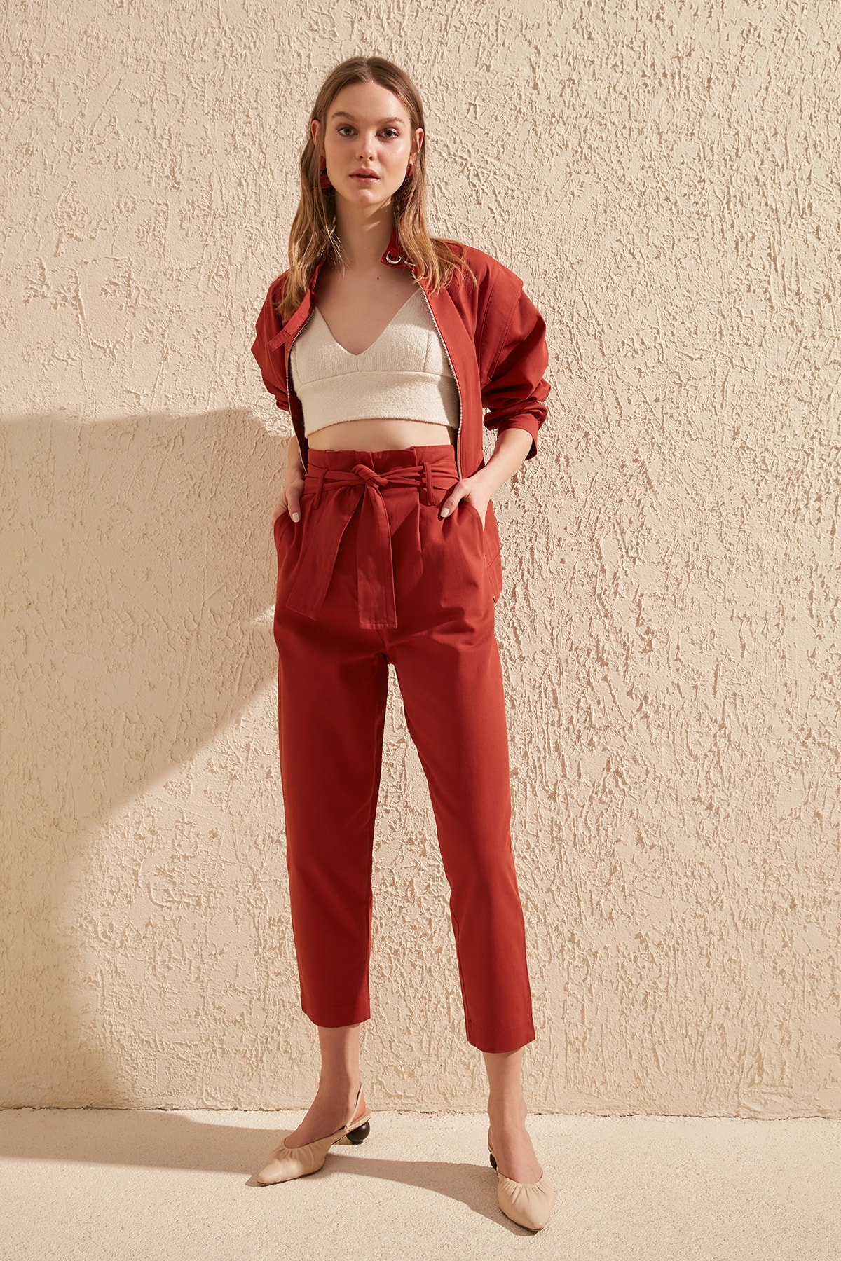 Trendyol Lacing Detailed Pants TWOSS20PL0066
