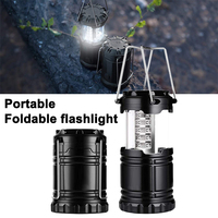 Tragbare LED Taschenlampe Outdoor Camping 30LED Wasserdichte Laternen Faltbare Camping Batterie Powered Lichter