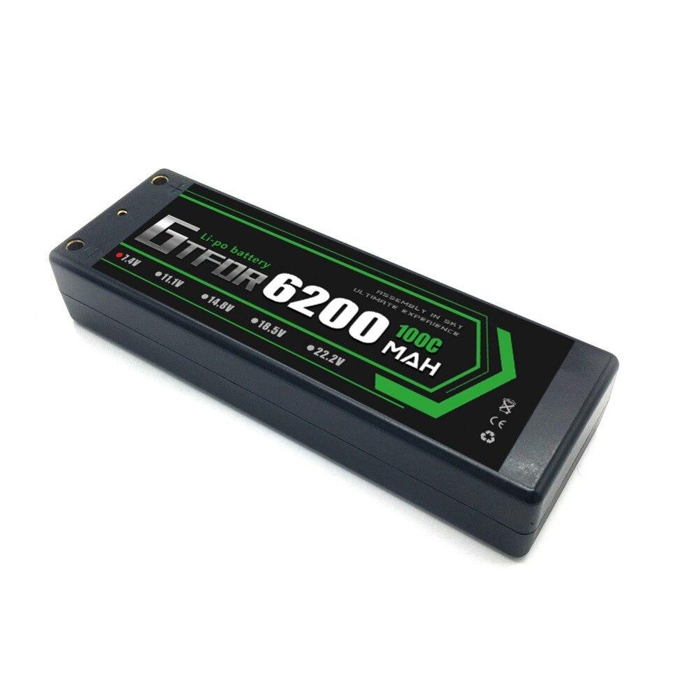 v 100c 6200 mah caso duro lipo