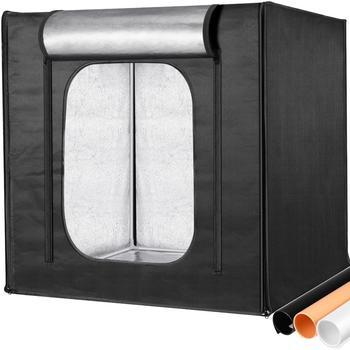 Neewer 3 Panel świetlny LED 32 #215 32 cali możliwość przyciemniania oświetlenie studia fotograficznego softbox lightbox składane pudełko fotografia tło strzelanie ki tanie i dobre opinie CN (pochodzenie) 32x32x32 inches 80x80x80 centimeters 6 02 kilograms 13 3 lbs PP A3 Metal Tube Frame Oxford Fabric Cloth