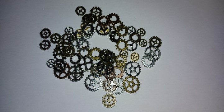 PULCHRITUDE 60PCS 4 Color Small Size 8-15mm Mix Alloy Mechanical Steampunk Cogs & Gears Diy Accessories New Oct Drop ship