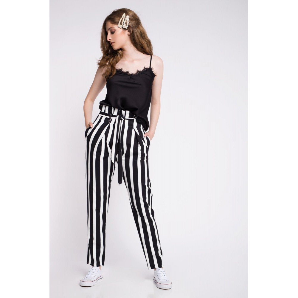 PANT HARMONIES PAPERBAG STRIPED