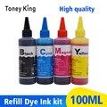 Toney universal (Король 4 цвета 100 мл принтер чернила для hp 21 22 123 122 121 302 304 301 300 650 652 140 141 XL картридж набор для наполнения чернил