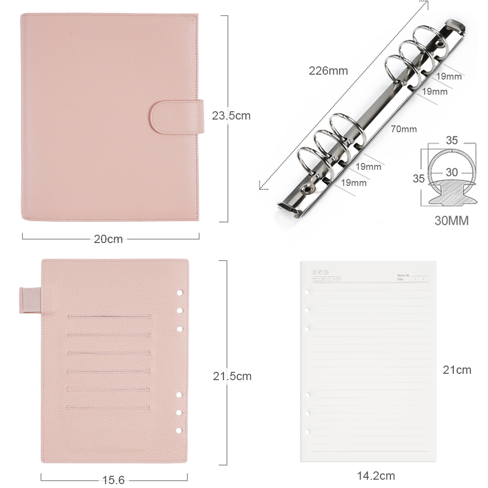 Moterm New Series Luxe A5 Rings Planner with 30 MM Silver Rings Binder Agenda Organizer Diary Journal Notepad Sketchbook 2