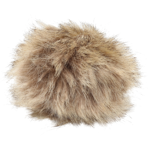 5as-305 Pompom Made Of Artificial Fur 11 Cm (Brown)