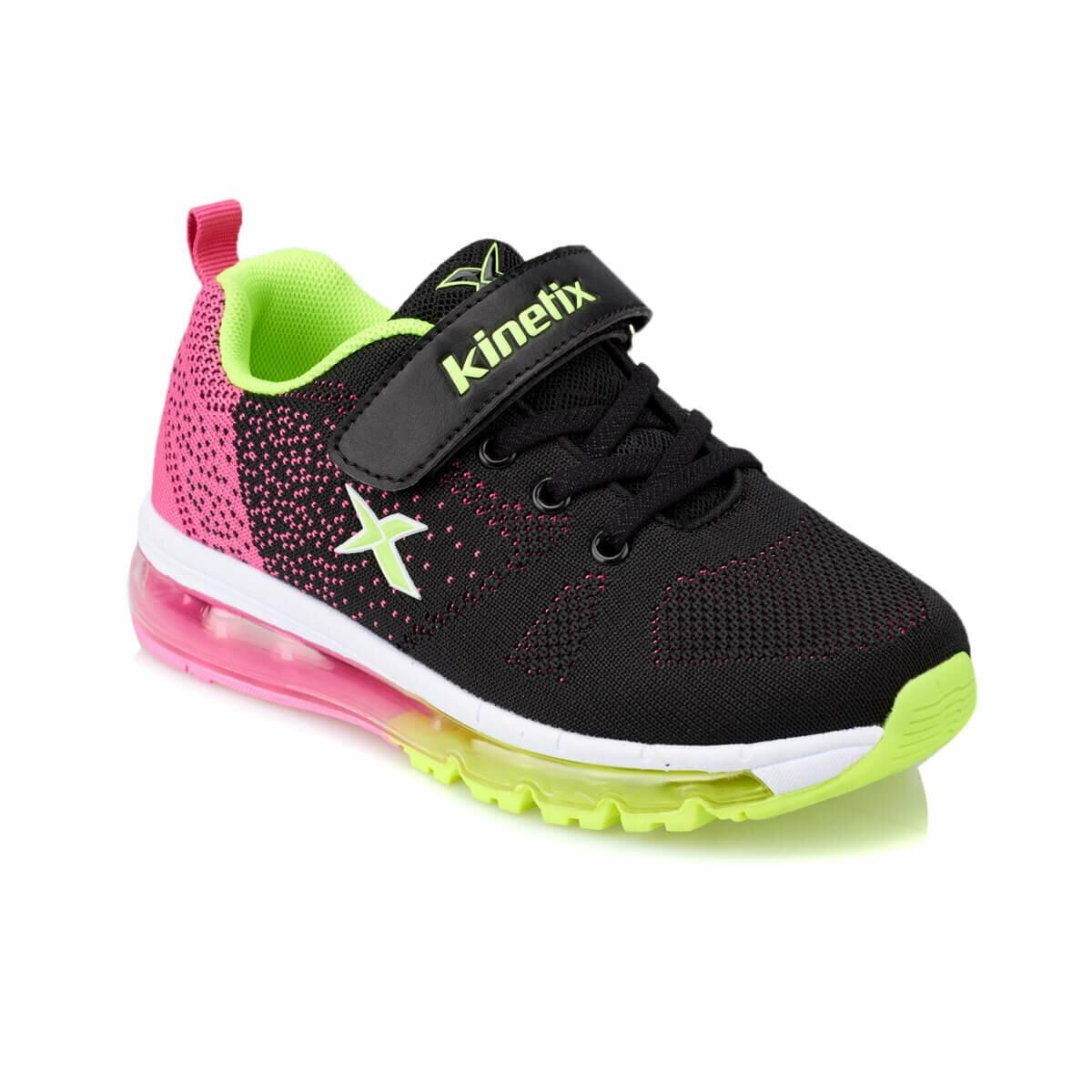 FLO GOLDA Black Female Child Running Shoes KINETIX