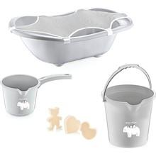 Babyjem Baby Bath Set 5 Piece Gray