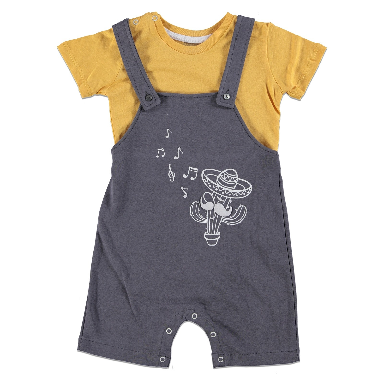 Ebebek Baby Corner Boy Arizona Dungarees Bodysuit Set