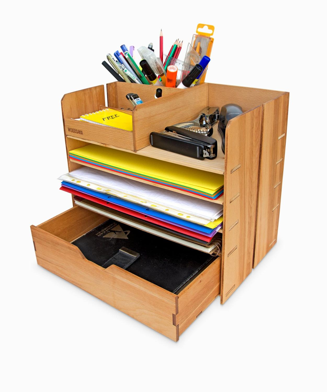 OfficePRO X2 - Desk Organiser - WOODSAKA