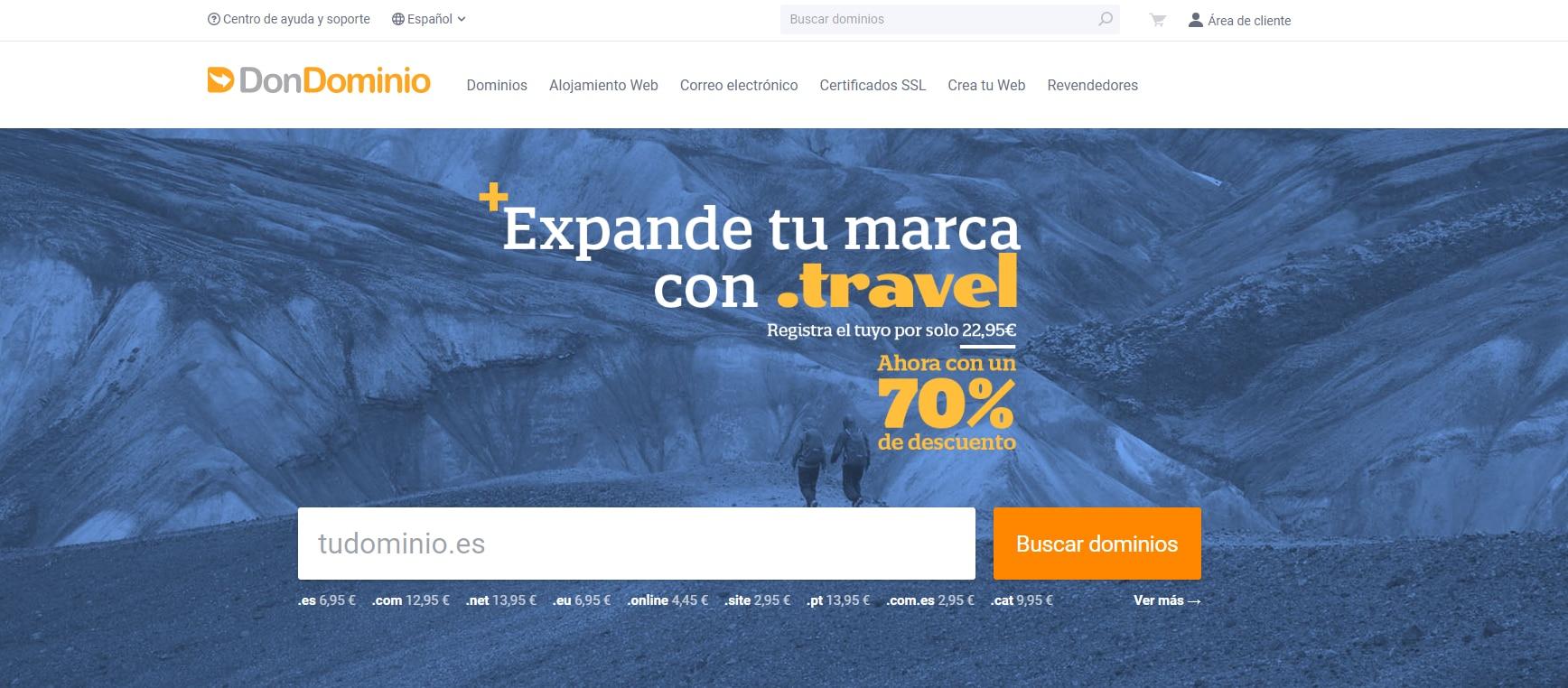 DonDominio 免费一年.travel ( 旅行 ) 域名