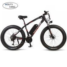 Электрический велосипед wolfs fang, 26 дюймов, 48 В, 500/1000 Вт, 13 Ач, 27 скоростей, фэтбайк, Электрический горный велосипед, электровелосипед, бесщеточный мотор