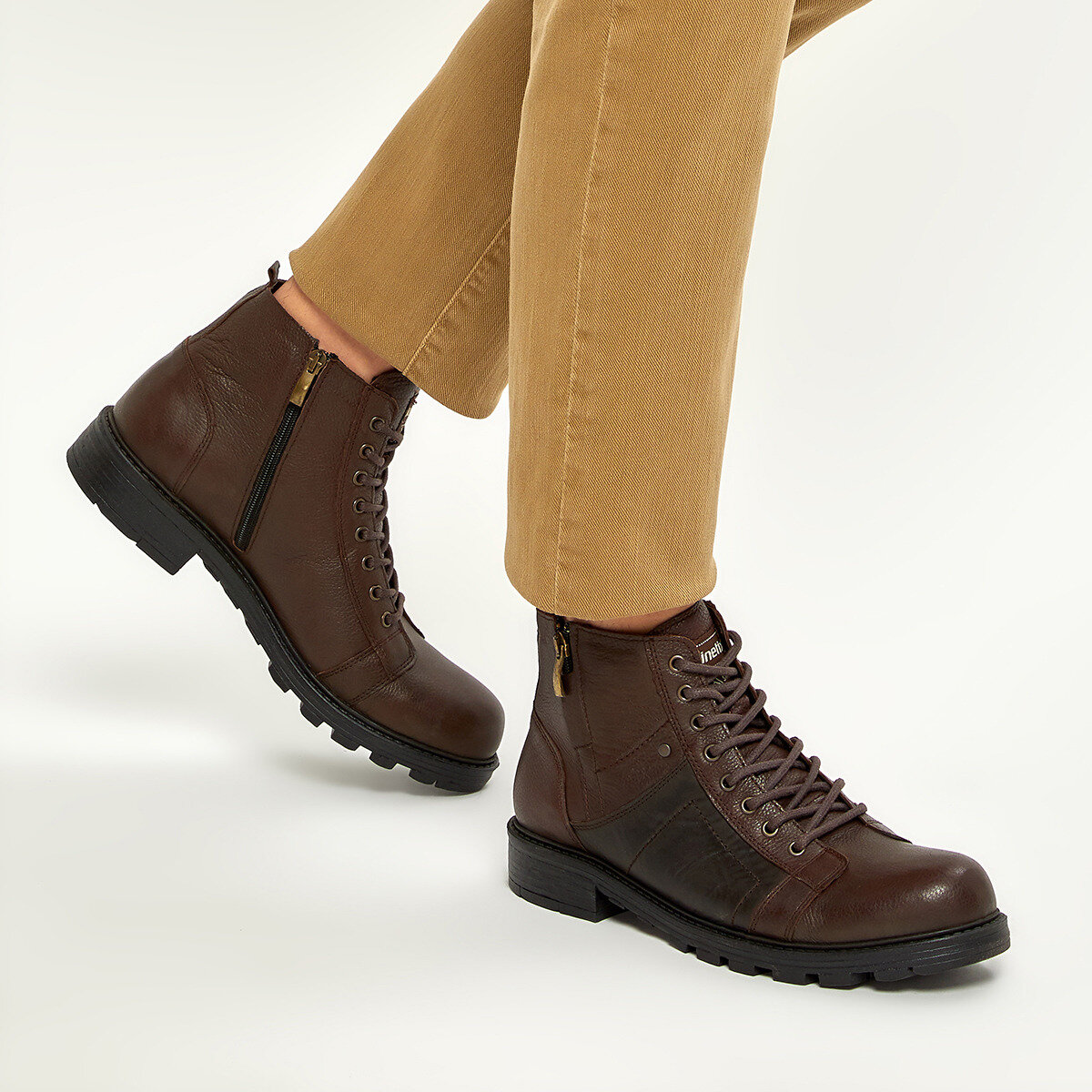 FLO BARROW Brown Men Boots KINETIX