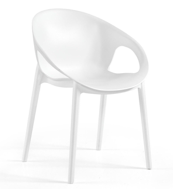 Chair COSMOS, Stackable, White Polypropylene