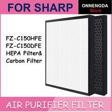 Замена Sharp FZ-C150HFE & FZ-C150DFE Воздухоочистители фильтр HEPA + поглощения неприятных запахов для KC-A60E KC-860E KC-C150E
