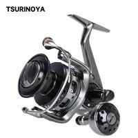TSURINOYA Full metal body Fishing Reel BROWN BEAR 6000 9+1BB Long shot reel Saltwater Anti corrosion Jigging Carp Reel