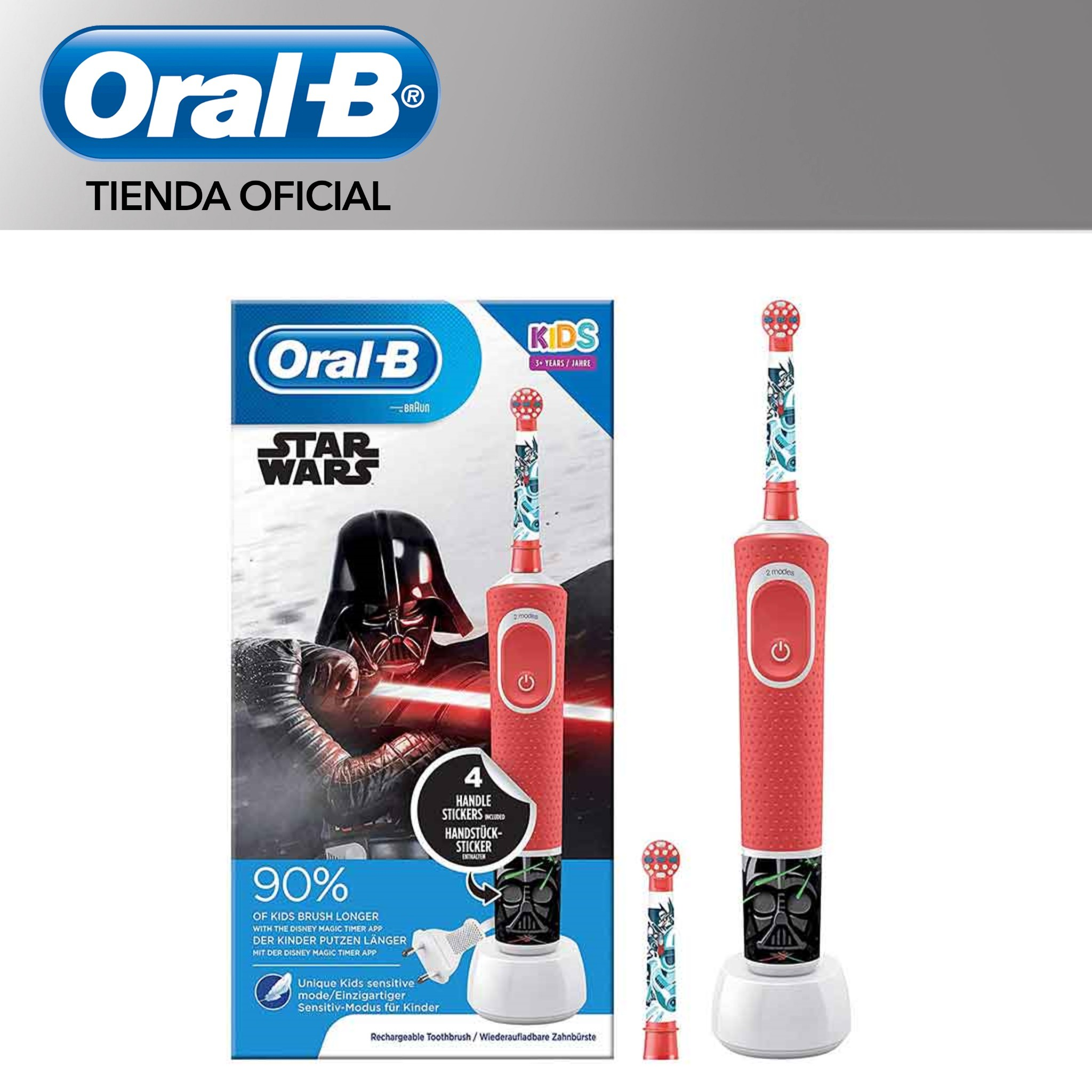 Oral B Vitality KIDS Characters Star Wars Plus Box Electric Toothbrush Rechargeable order child's + 3years-up 8 days autonomy image