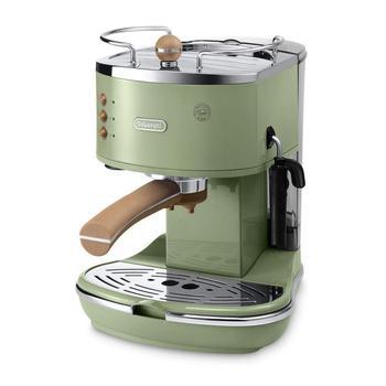 Delonghi ECOV311.GR Icona Vintage Series Espresso and Cappuccino Machine. Expresso maker vacuum cafe espresso machine kitchen delonghi ctov 2103 gr icona vintage ekmek kızartma makinası 3 farklı renk