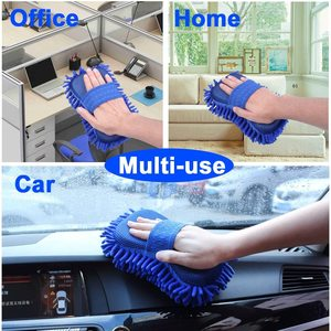 Image 5 - 2 szt. Gąbka do mycia samochodu z mikrofibry Ultra miękka, odporna na zarysowania Premium Chenille Wash Mitt Glove myjnia samochodowa akcesoria narzędziowe