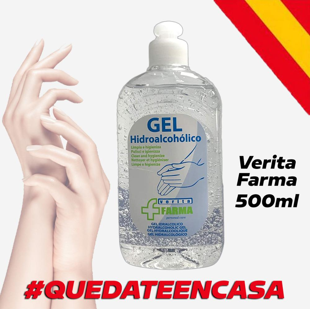 Hidroalcoholico Gel 500Ml 485g-sanitizer Hands Gel Hidroalcohólico Hands Gel Sanitizer Verita Pharma