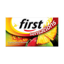 First Sensations Tropical Fruit Flavored Chewing Gum 27 gr  FREE SHİPPİNG