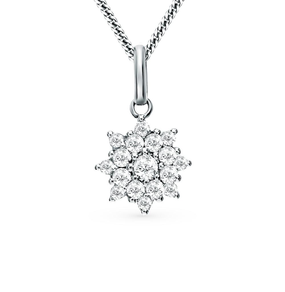 Gold Pendant With Diamonds SUNLIGHT Test 585