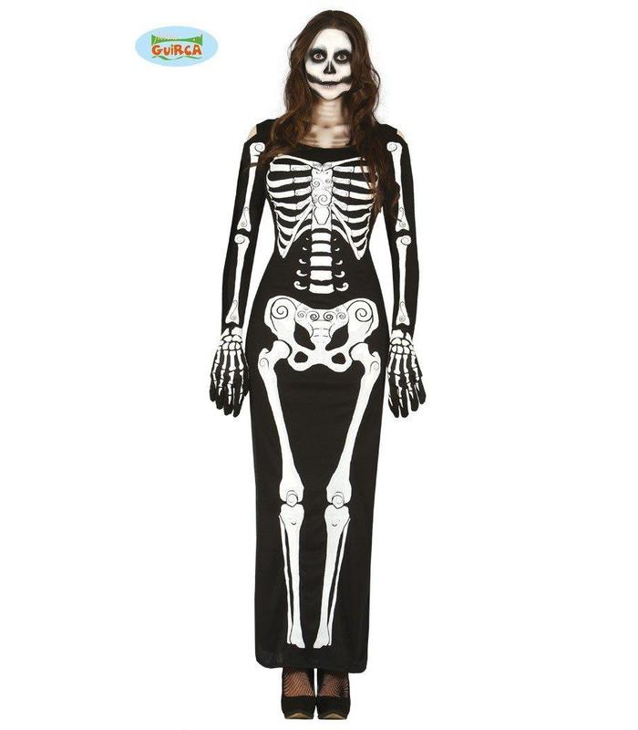 Lady Skeleton Adult Size M 38-40 Guirca Toy Store Articles Created Handbook