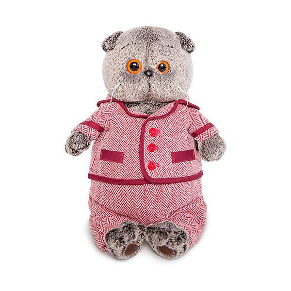 Soft Toy Budi Basa Cat Basik Red Jacket And Trousers In ёлочку, 19 Cm MTpromo