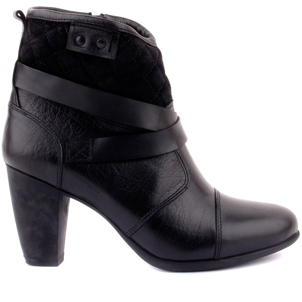 Sail-Lakers Black Suede Leather Zipper Female Boots