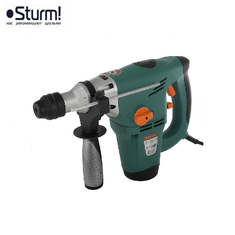 RH2517 Sturm Rotary hammer, 1700 W, 3 modes, 5.5 J, 0-4250 bpm, 0-860 rpm, case  Jackhammer Drilling and Grooving operation id2195p hammer drill pros sturm 1000 w 0 2700 rpm 0 45900 bpm percussion drill boring hammer drilling in concrete