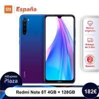 Xiaomi Redmi Note 8T (128GB ROM, 4GB RAM, 13MP Frontal Cámara, Nuevo, Libre) [Teléfono Movil Versión Global para España] note8t
