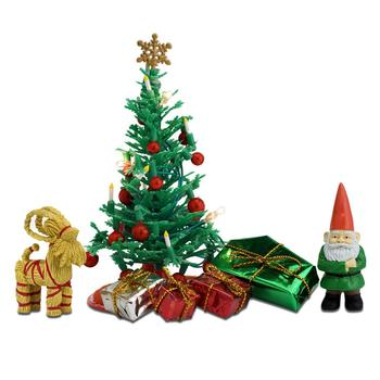 the dolls house Doll House Accessories Lundby  Set of furniture for house Christmas set for children toys for kids game furniture dolls doll houses furniture for doll houses bed for dolls accessories