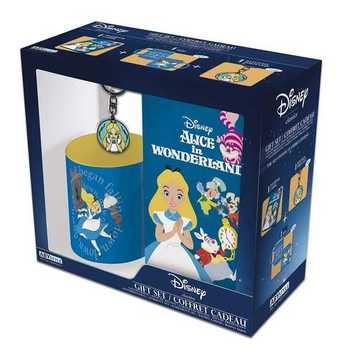 Pack de Regalo Taza Llavero y Cuaderno Alicia Disney