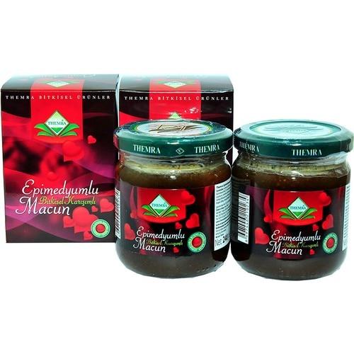 Themra Honey Herbal Paste 240Gr X 2Box Turkish Epimedium Paste Horny Goat Weed, Ginseng Herbal Aphrodisiac, Natural Health