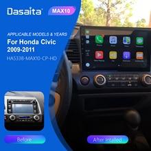 Dasaita Car Radio 1 Din for Honda Civic 2009 2010 2011 GPS Navigation with Android 10.0 Bluetooth 10.2